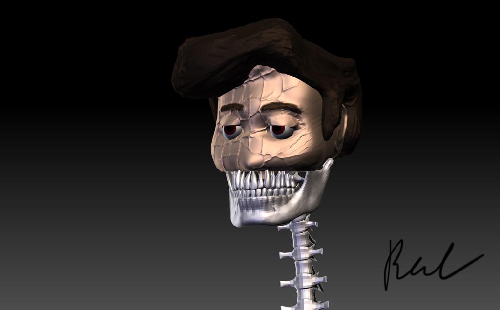 Ben skull guy 3D render